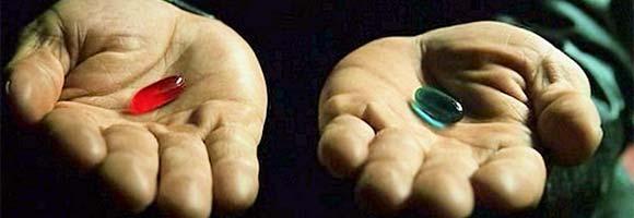 Red/Blue Pill The Matrix