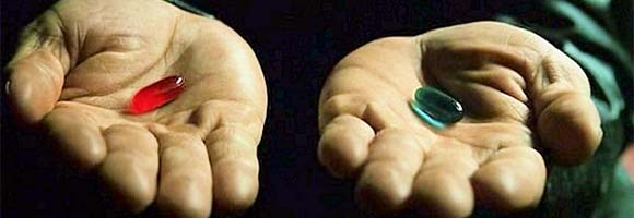 Red/Blue Pill The Matrix